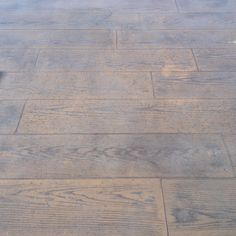 This is our stamped concrete deck