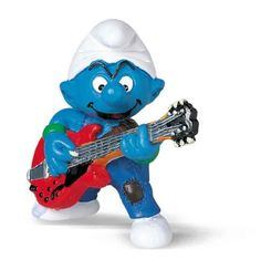 Schleich Smurf Lead Guitar Player Figure, 2015 Amazon Top Rated Guitars & Strings #Toy