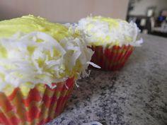 Banana Cupcakes w/Chocolate Fudge Filling, Banana Buttercream Frosting & Coconut🍰🍰🍰🍰oh yum Cupcake Images, Cupcake Ideas, Buttercream Frosting, Icing, Cupcake Fillings, Filled Cupcakes, Cupcake Bakery, Banana Cupcakes, Cupcake Heaven