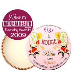 Rose Lip Balm from Figs  Rouge keep lips in tip top shape ready to pucker up at the shortest notice  http://www.lovelula.com/admin/pd-figs-rouge-rambling-rose-100-organic-balm.cfm