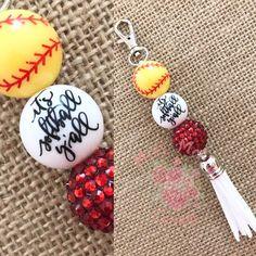 Diy Resin Crafts, Chunky Beads, Coach Gifts, How To Make Beads, Charmed, Softball Stuff, Softball Mom, Jewelry Ideas, Diy Jewelry