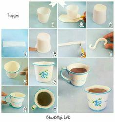 Tuto tasse pâte à sucre... ...