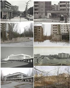 Image result for pripyat before and after pictures