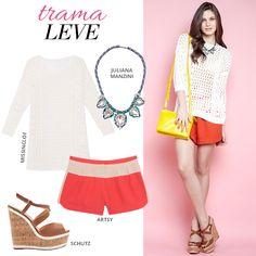 Compre moda com conteúdo, www.oqvestir.com.br #Fashion #Shoes #Summer #Schutz #JulianaManzini #Missinclof #Artsy #Look #Shop