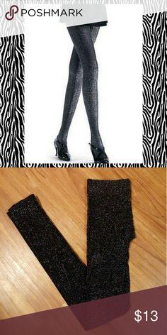 Nwot! Black glitter leggings Never worn,  slightly thicker,  perfect for fall! Just one Pants Leggings