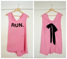 DIY running tank top from t-shirt upcycle - Lace and Buckles