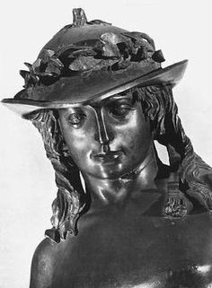 David by Donatello in the Bargello museum in Florence Italy