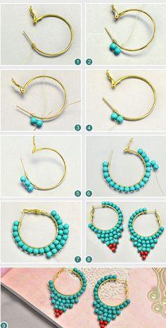 Thread Jewellery Jewelry Tools Jewelry Crafts Fringe Earrings Diy Earrings Handmade Wire Jewelry Beaded Jewelry New Jewellery Design Earring Tutorial Handmade Wire Jewelry, Earrings Handmade, Diy Earrings Easy, Handmade Copper, Turquoise Earrings, Beaded Earrings, Emerald Earrings, Hoop Earrings, Emerald Jewelry