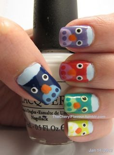 Owl Nails-for Hailey