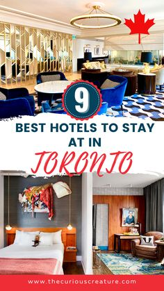 Whether you're visiting Toronto for the first time or looking for a staycation here in the city, there are a lot of amazing hotels in Toronto to pick from. If you're wondering where to stay in Toronto you definitely don't want to miss this hotel guide. Here are 9 of the best hotels to stay at in Toronto! Toronto Hotels, Visit Toronto, Toronto Travel, Toronto Life, Amazing Hotels, Beautiful Hotels, Best Hotels, Ontario Travel, Canada Destinations