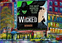 Broadway show painting