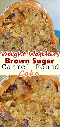 This cake is covered in so much maple glaze that the hole in the middle is filled with it! Hey, everyone! I am so excited to tell you about this wonderful brown sugar and maple glaze cake recipe . Weight Watcher Desserts, Weight Watchers Meals, Köstliche Desserts, Healthy Desserts, Delicious Desserts, Dessert Recipes, Carmel Desserts, Dinner Recipes, Snacks Recipes