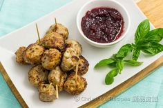 Meatballs with Cranberry Sauce (Christmas Party Snack) from Christine's Recipes