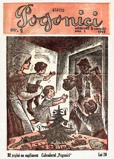 1949_revista pogonici_numarul 1 Comic Books, Comics, Cover, Art, Journals, Art Background, Comic Strips, Kunst, Comic Book