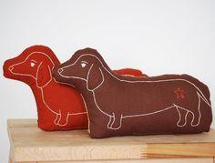 love these dachshund pillows