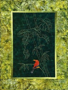Honeycreeper in Bamboo Quilt