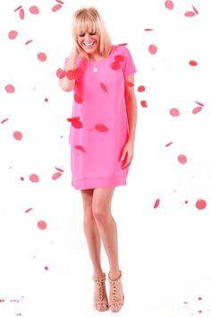 Valentine's Day Dress: Hot Pink Shift Dress from HerringStonesBoutique.com!