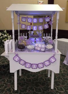 Baptism Candy Cart/ Sweet Cart. Unique idea for the traditional sweet table. Done by: DULCIA BY SARA