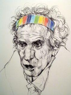 """Saatchi Online Artist: Chiara Ganzer; """"Keith Richards"""""""