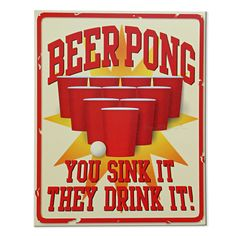 Old Signs | beer pong vintage tin sign signs decor game misc signs