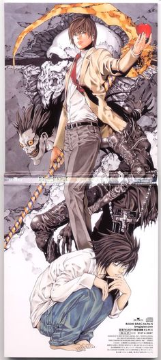 Death Note// L Lawliet and Light Yagami (Kira) Death Note Anime, L Death Note, Me Anime, Anime Art, Dark Anime, Anime Girls, Wizyakuza Anime, Animation, Otaku