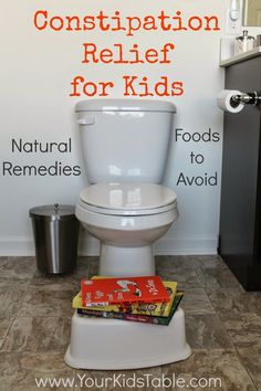 Your Kid's Table: What Helps Constipation in Kids? Natural Remedies, foods that help, foods to avoid, and more. How To Avoid Constipation, Kids Constipation, Constipation Problem, Constipation Smoothie, Health Remedies, Home Remedies, Natural Remedies, Natural Treatments, Bed Wetting