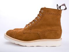 Comme des Garcons Junya Watanabe Tricker's Snuff Toe Cap Brogue Boot - Junya Watanabe Man and Tricker's collaborated on this brogue boot. The soft suede upper is Scotchgard protected and the light yet robust vibram outsole make this boot winterproof.