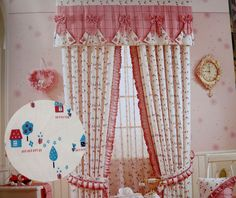 Fascinating Pink Curtain for Girls Girls Bedroom Curtains, Shabby Chic Curtains, Pink Curtains, Cool Curtains, Curtain Styles, Curtain Designs, Window Coverings, Interior Design Inspiration, Diy Home Decor