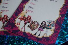 Ever After High Party Invitations - Free Printable templates