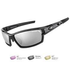 Tifosi Camrock Gloss Black Golf Interchangeable Sunglasses - Smoke-GT™-EC™