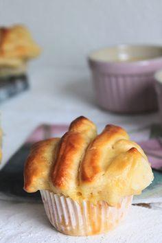 Pulled Apart Muffins, Hefemuffins, Muffins mit Pudding