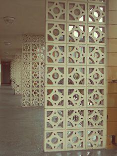 Mid-Century Modern Vancouver Island: Decorative concrete blocks
