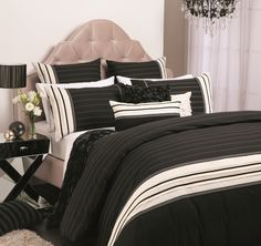 Lauren Black Quilt Cover Set by Platinum Collection - All Categories