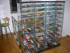 Matchbox Car Storage, Matchbox Cars, Nascar Diecast, Diecast Model Cars, Display Shelves, Display Cabinets, Display Cases, Display Ideas, Hot Wheels Display