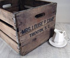 $45 Vintage wooden box crate