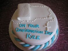 Boys confirmation cake