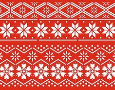 Pattern inspiration for my red and white vaguely Scandinavian inspired Christmas theme