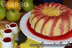 Este Bolo de Laranja com Casca e Sem Glúten, é feito no liquidificador, tem delicioso aroma, a maciez e a calda são incríveis! Ah é #SemGlúten, #SemLactose e #diet.  #Receita no link => http://www.gulosoesaudavel.com.br/2015/02/27/bolo-laranja-casca-sem-gluten/