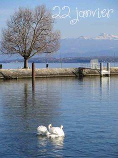 Lac Léman à Nyon, Suisse