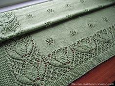 Mis Pasatiempos Amo el Crochet: Plaid con bordes de encaje