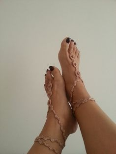 Desert  color  with  beads Barefoot Sandals Nude by ArtofAccessory, $15.00