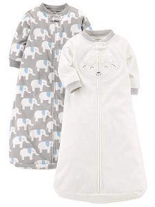 Elys /& Co 100/% Cotton Wearable Blanket Baby Sleep Bag 2 Pack Grey Stars 3-6 Months