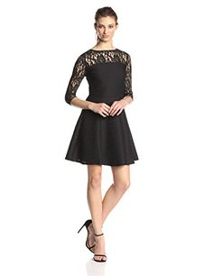 Taylor Dresses Women's Lace Fit-and-Flare Dress