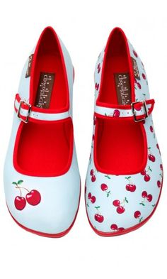 CHERRY DOLLFACE MARY JANE SHOES...if these were Danskos they'd so be on my feet!