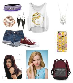 """Going to school with your bestfriend dove cameron"" by anniehoran143 ❤ liked on Polyvore featuring Converse, Alexis Bittar, Victoria's Secret, Casetify, GUESS, Revlon, women's clothing, women's fashion, women and female"