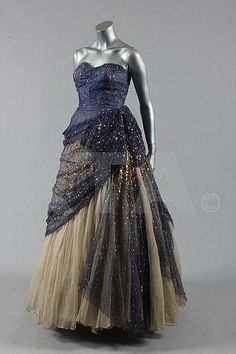 ~Margaret Lockwood's Victor Steibel at Jacqmar ball gown, circa 1952~
