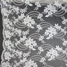 Lace w/Embroidery  White & Ivory Fabric 50 wide by ElegantInterior