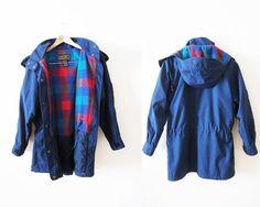 Vintage Windbreaker Jacket / Eddie Bauer Plaid Lined by MILKTEETHS