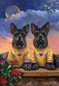 Soulmates by Suzanne Renaud   Reminds me so much of my Bella and Bentley!  Absolutely adorable!