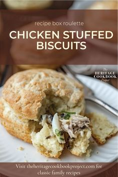 These Chicken Stuffed Biscuits are great to serve as a breakfast sandwich or for a Mother's Day or Easter Brunch. They even make a great grab-n-go lunch.